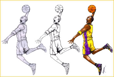 400x271 No Rubber Shoes Allowed Artwork Kobe Bryant Ii