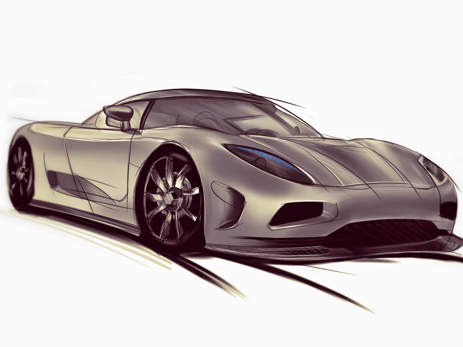 1600x1200 Design For Students Drawing The Badass Koenigsegg How To Draw