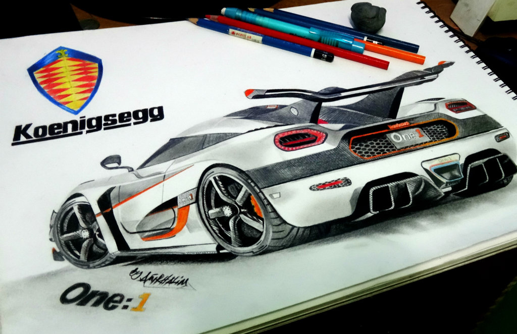 1024x662 Koenigsegg Agerae1 Pencil Drawing. By Neveramez