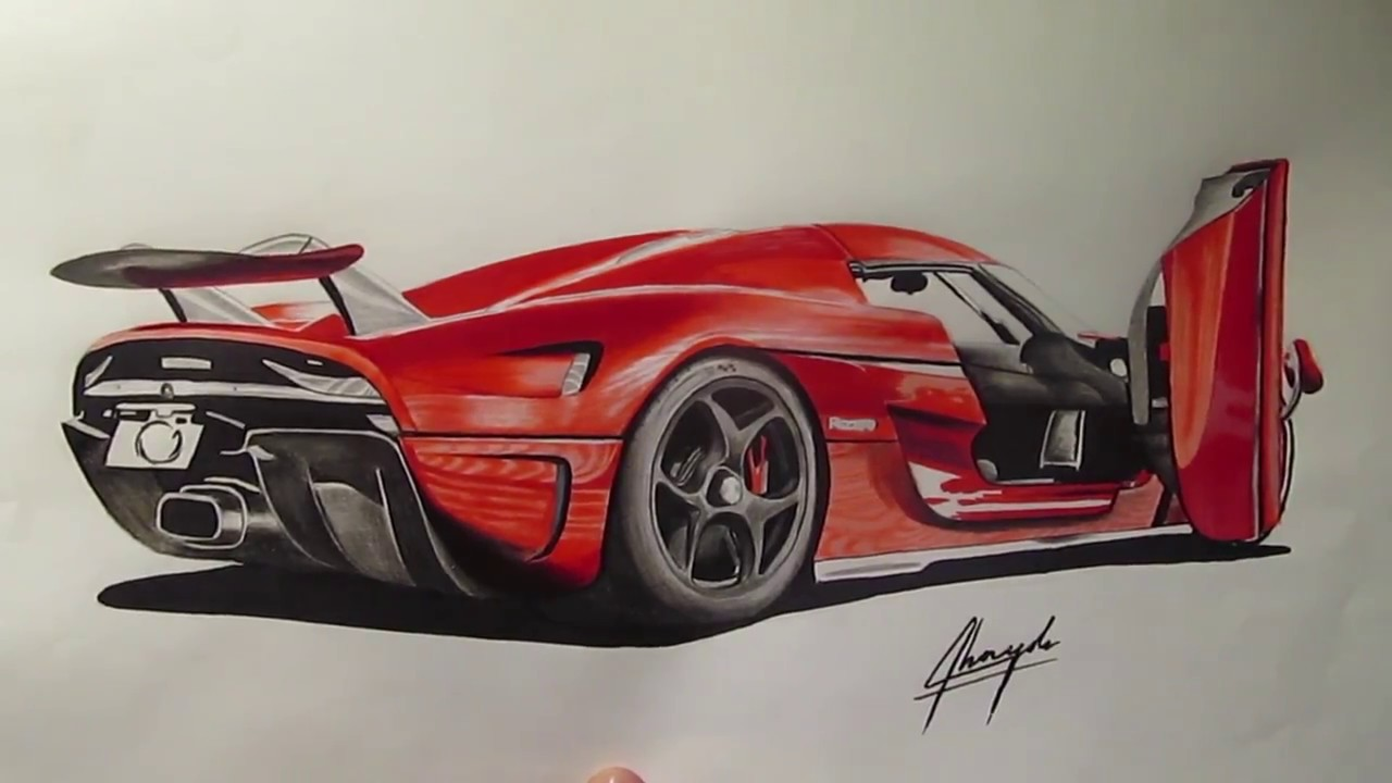 1280x720 Koenigsegg Regera Drawing