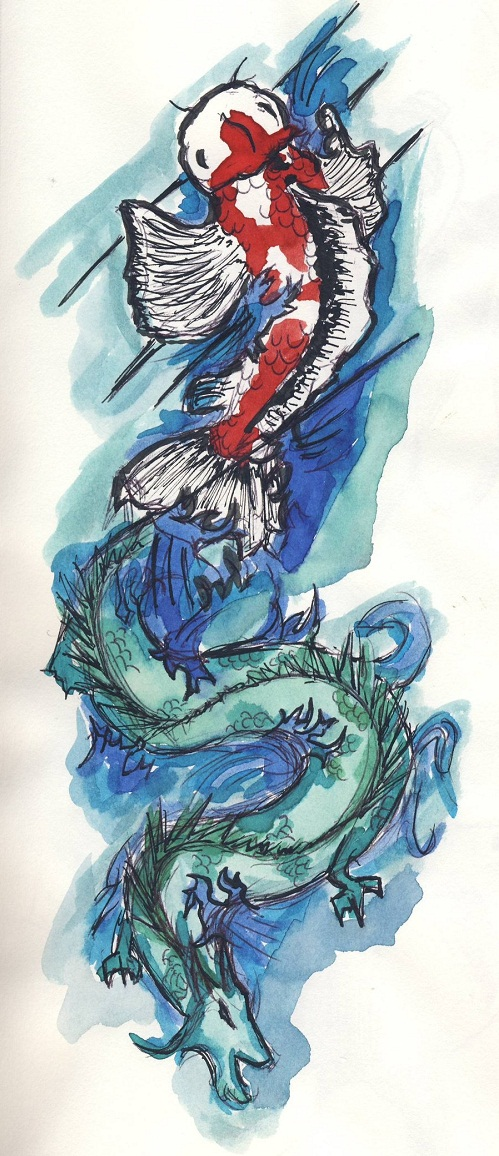 499x1156 110 Best Japanese Koi Fish Tattoo Designs And Drawings