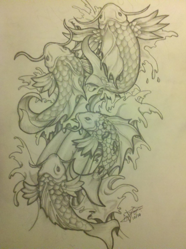 Koi Fish Dragon Drawing at GetDrawings.com | Free for personal use ...