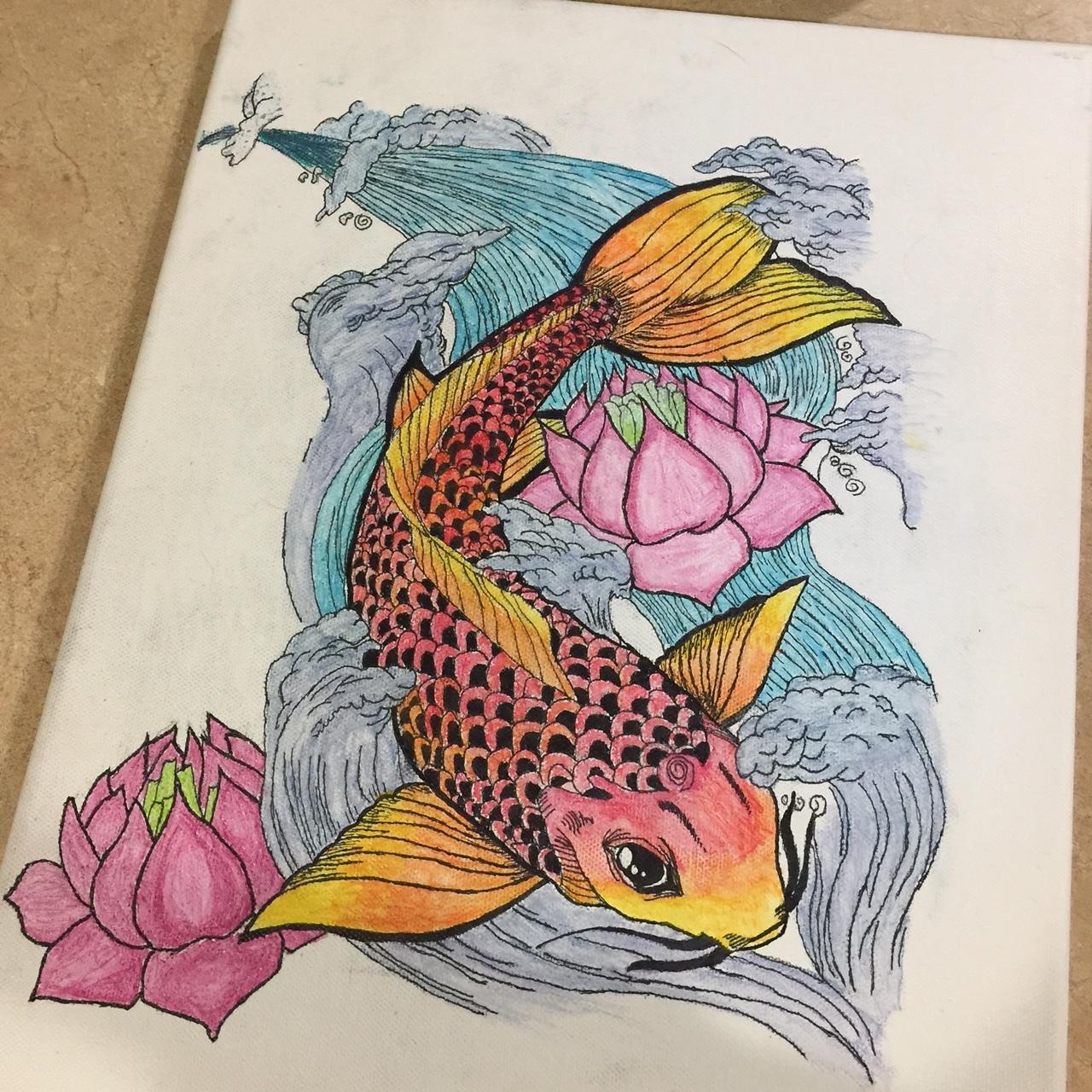 Koi Fish Drawing At GetDrawings