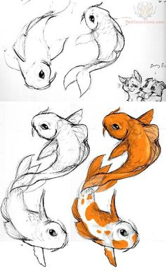 236x391 How To Draw A Koi Fish Printable Drawing Sheet By