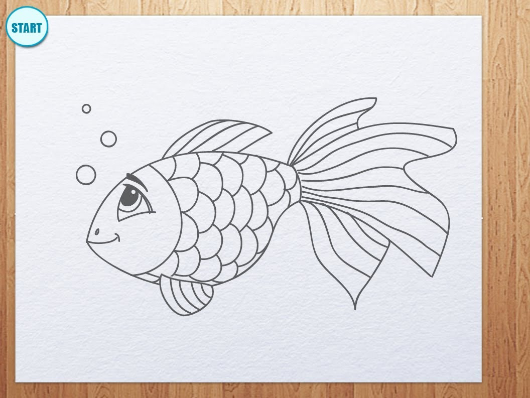 1056x793 How To Draw A Fish A Koi Fish Chibi Style