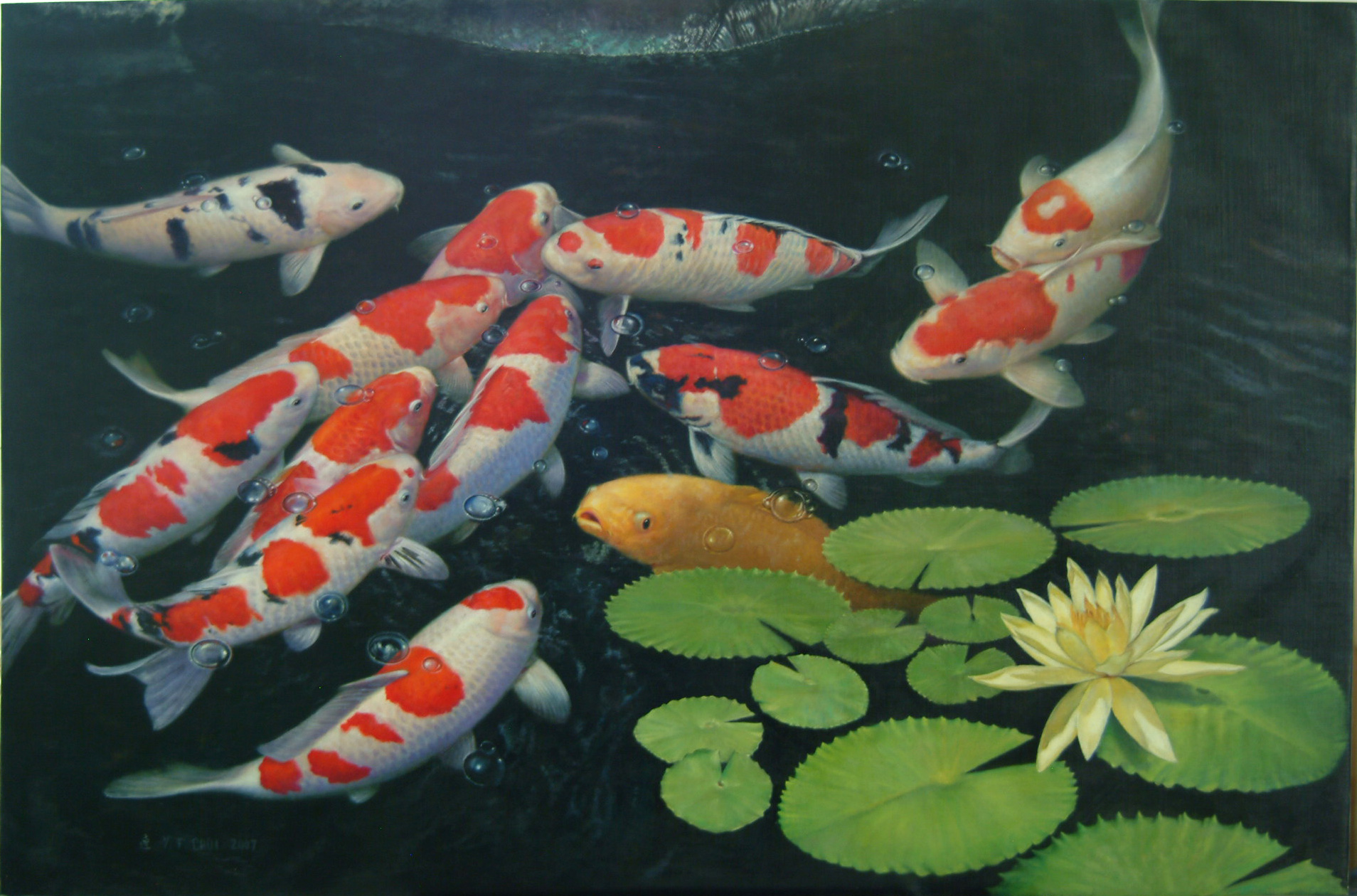 Koi Fish Pond Drawing at GetDrawings.com | Free for personal use Koi ...