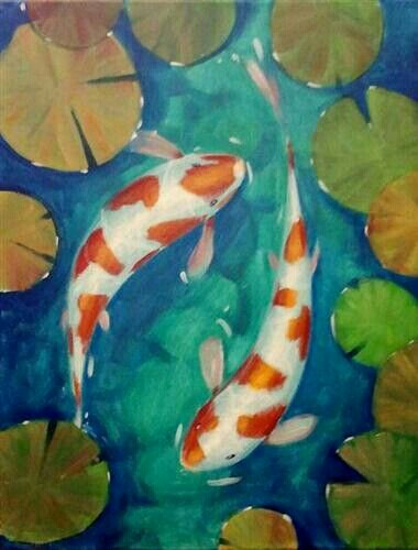 380x500 Paint Pub Time To Paint Paintings, Koi Painting
