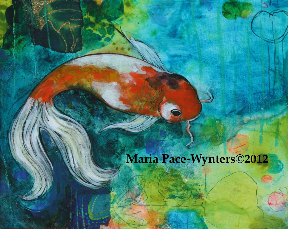 1200x954 The Small Koi Pond Maria Pace Wynters