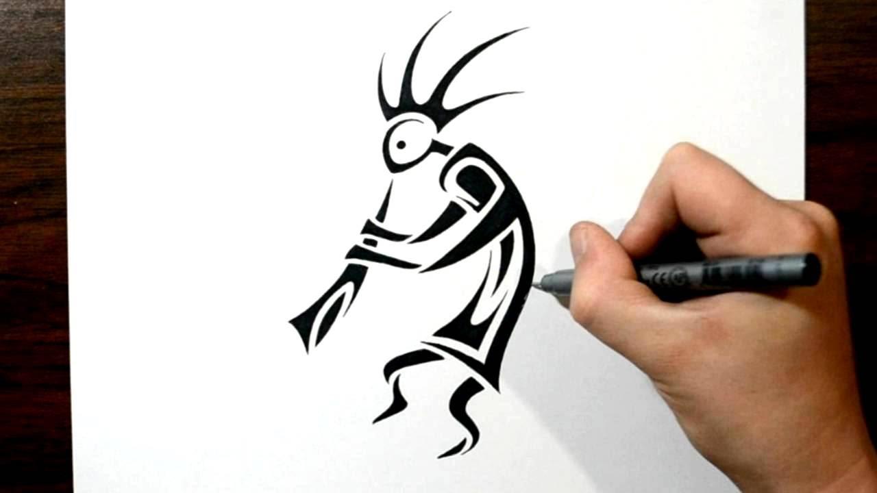 1280x720 How To Draw Kokopelli