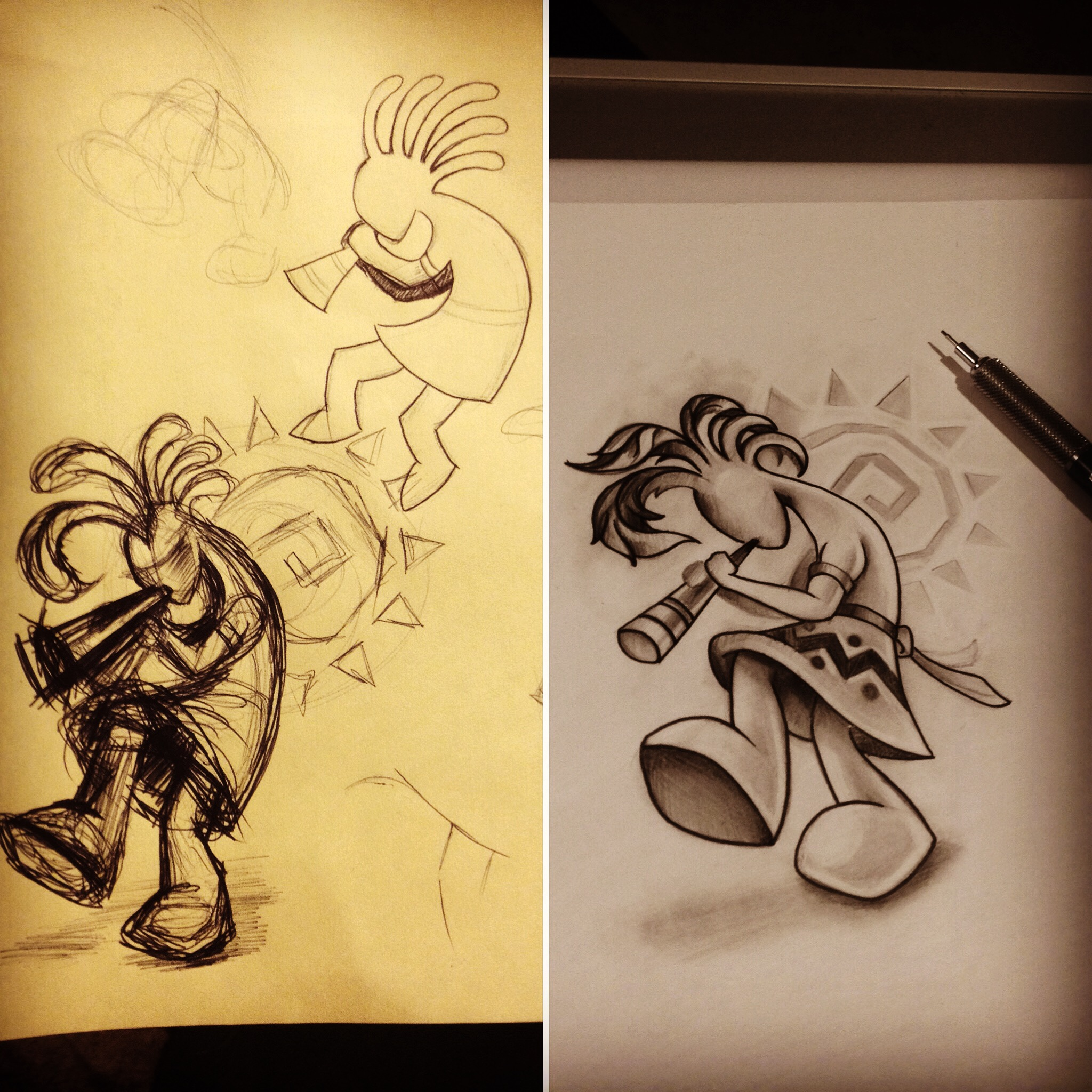 Kokopelli Drawing at GetDrawings.com | Free for personal use ...
