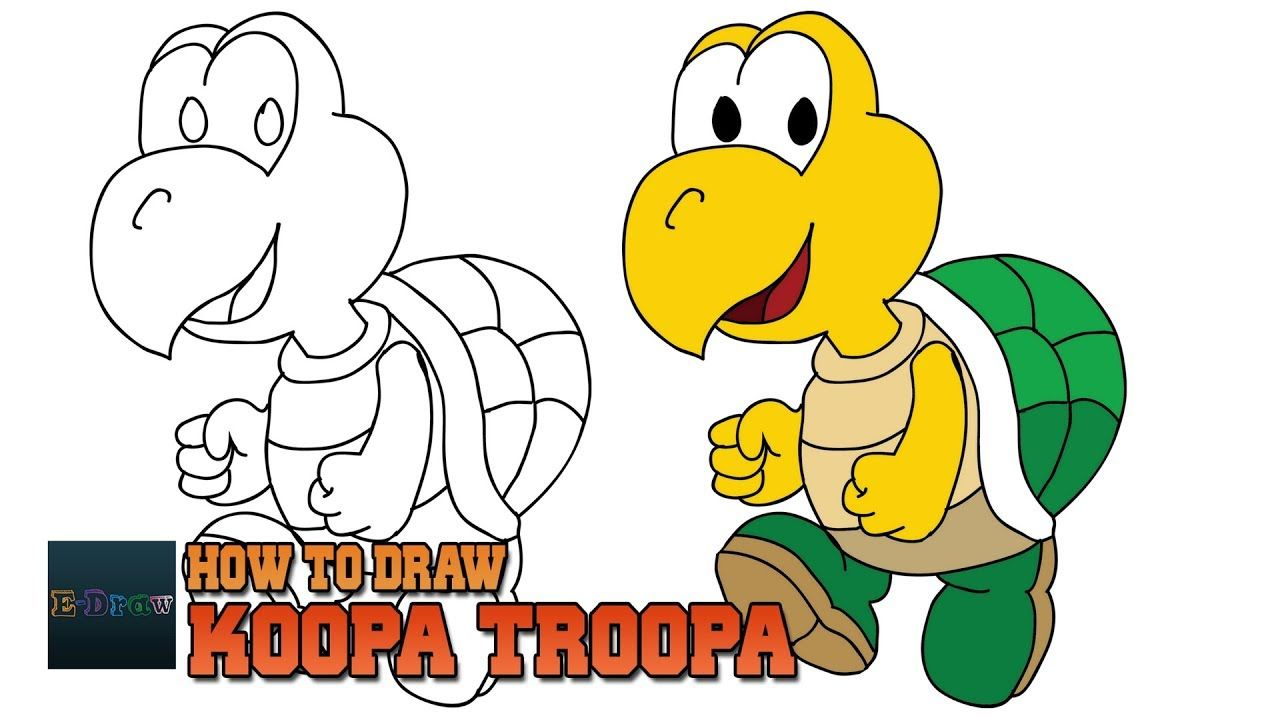 1280x720 How To Draw Koopa Troopa Super Mario Art Tutorial Easy Step By