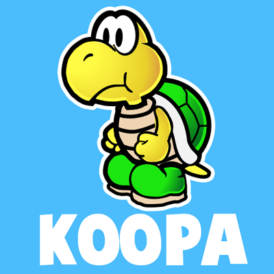 400x400 How To Draw Koopa Troopa From Nintendo's Super Mario Bros.
