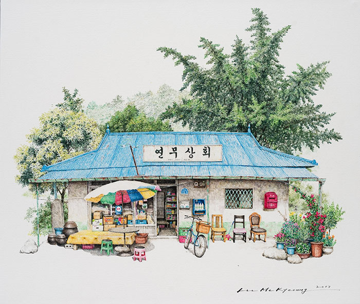 700x592 Artist Spends 20 Years Sketching South Korea's Little Convenience