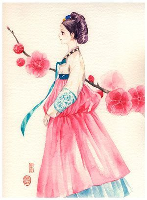 300x408 Image Result For Korean Traditional Drawing Beautiful