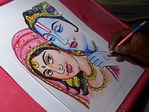 480x360 How To Draw Lord Krishna And Radha Drawing