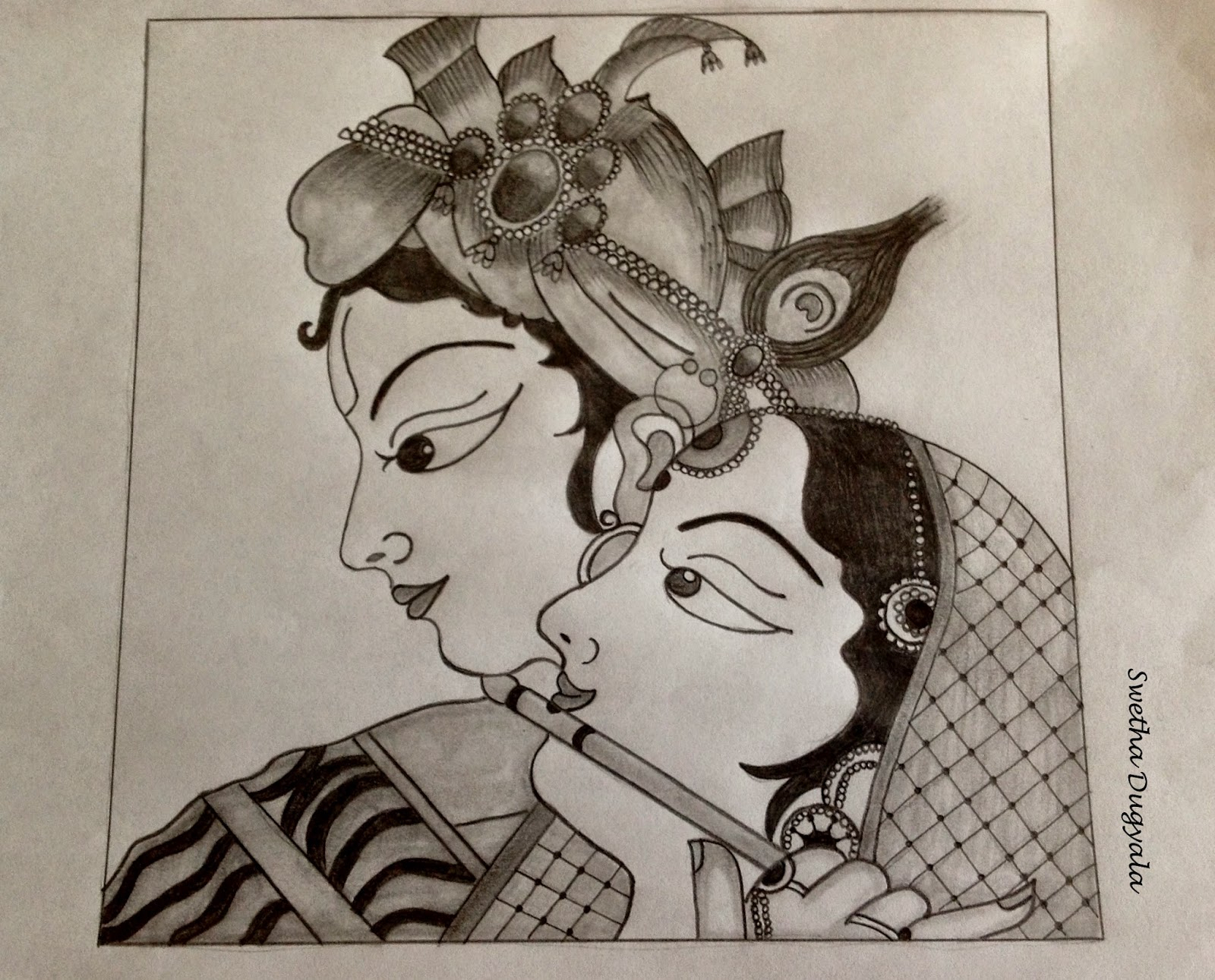 1600x1291 Pencil Sketches Of Radha Krishna Pencil Sketches Of Lord Krishna