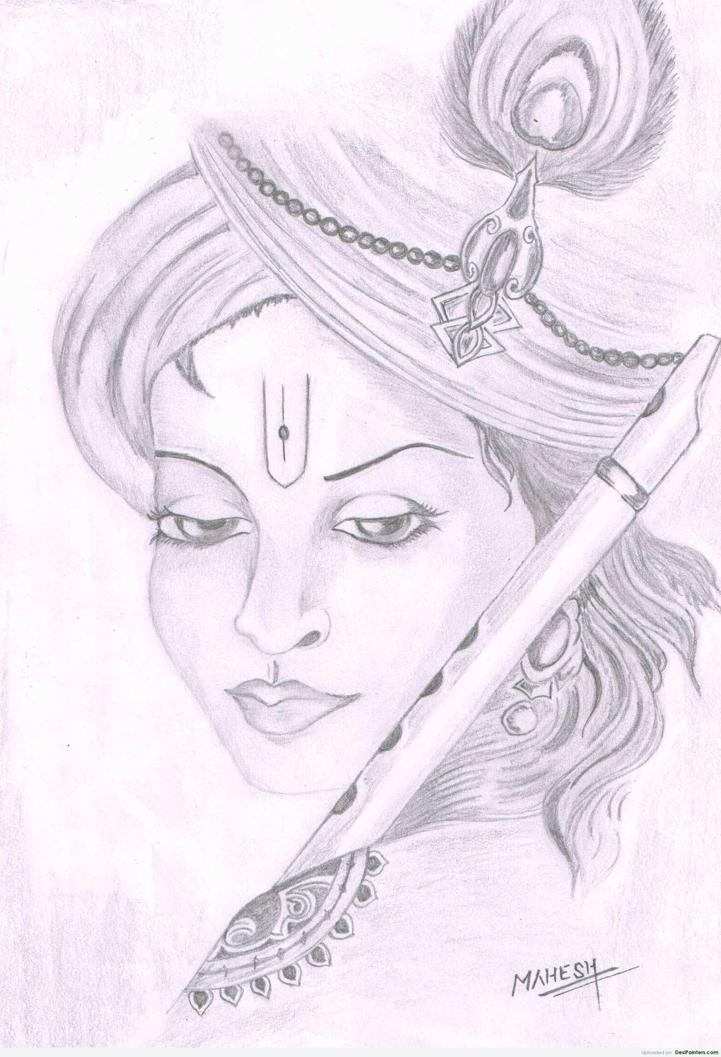 2300x3371 Sketch Painting Easy Lord Krishna Pencil Painting Easy Pencil
