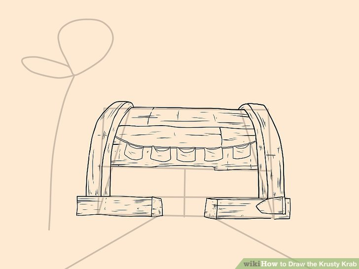728x546 How To Draw The Krusty Krab (With Pictures)
