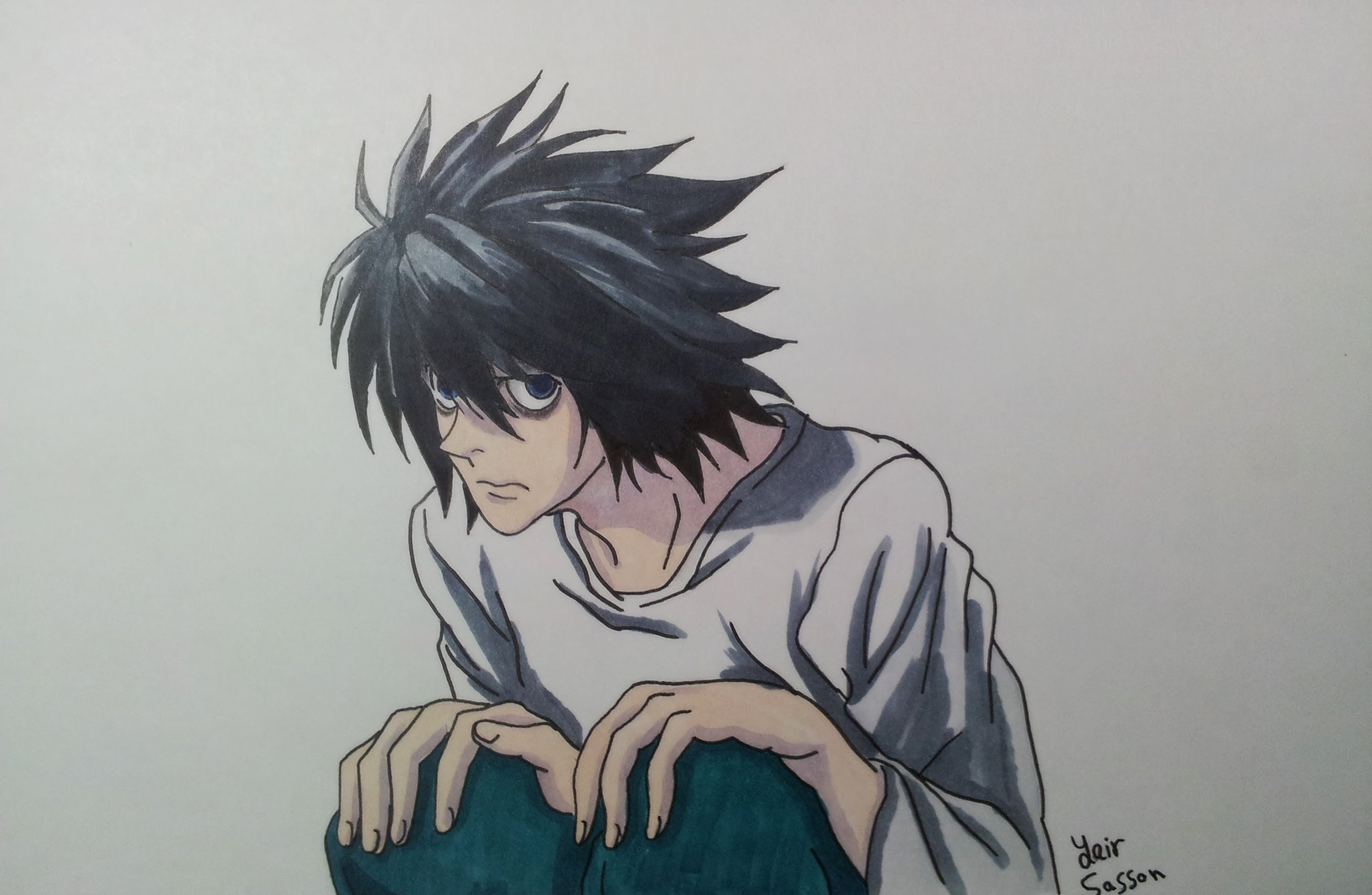 3000x1956 Drawing L From Death Note