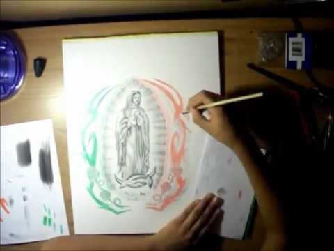 480x360 Drawing La Virgen De Guadalupe
