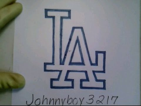 480x360 How To Draw Los Angeles Logo Sign Symbol Emblem Mlb Baseball Easy
