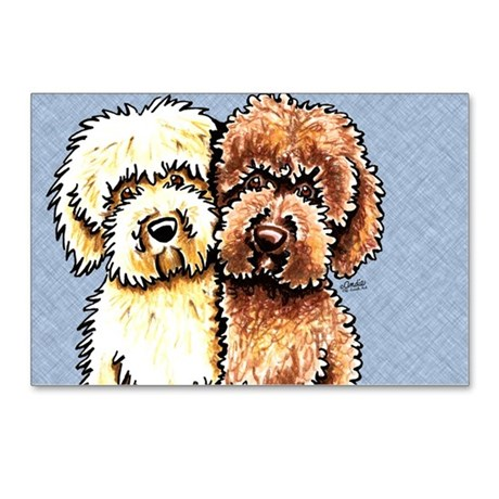 460x460 Labradoodle Drawing Postcards Labradoodle Drawing Post Card