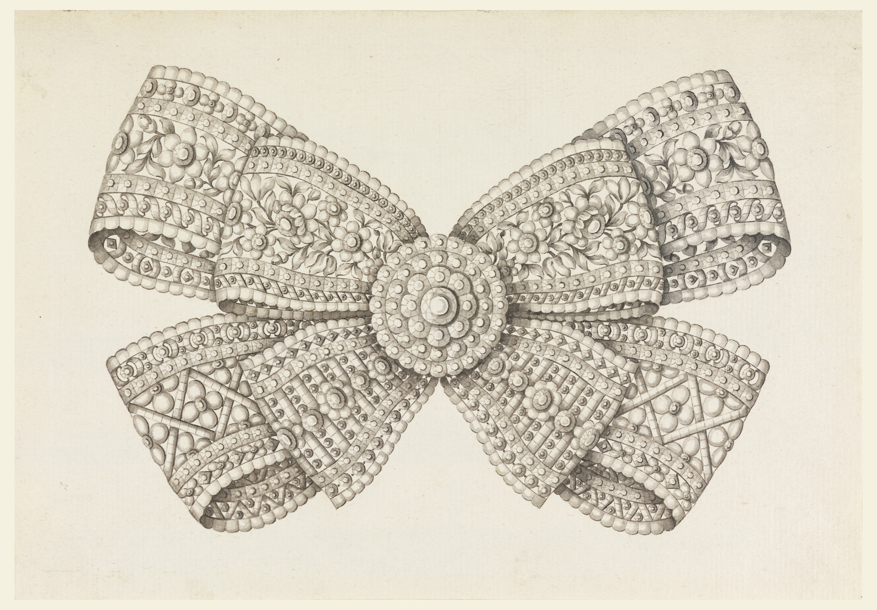 3000x2085 Drawing, Design For A Brooch, Late 18th Century Objects