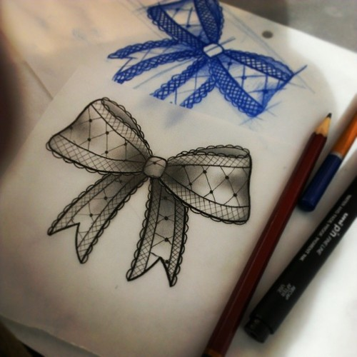 500x500 Gallery For Gt Lace Bow Tattoo Tumblr Tattoo Ideas