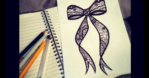 600x315 Lace Bow Drawing