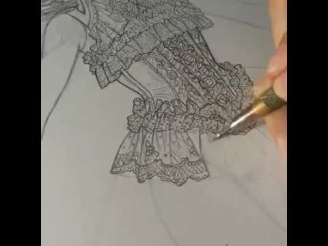 480x360 Drawing Detail Of Lace Lolita Dress