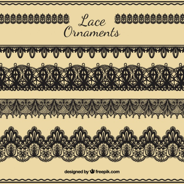 626x626 Hand Draw Lace Ornaments Set Vector Free Download