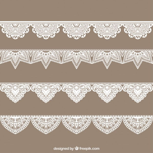 626x626 Hand Drawn Lace Border Collection Free Vector Logo