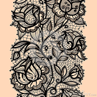 400x400 Abstract Lace Ribbon Roze Vertical Seamless Pattern Template Frame