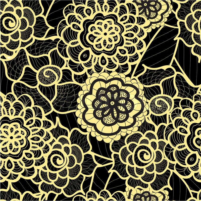 800x800 Lace Seamless Pattern With Abstract Elements. Vector Floral