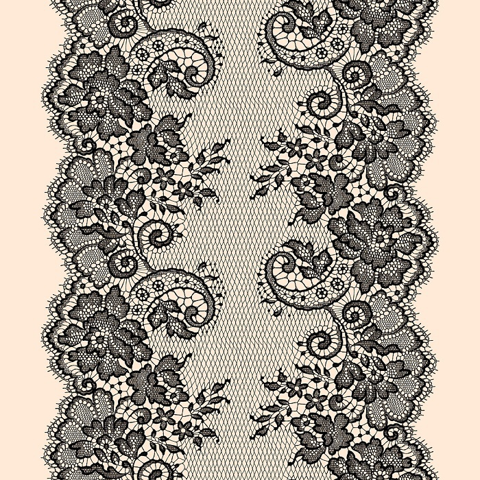 700x700 Romantic Laces. Vector Drawing. Lace Romantic Lace