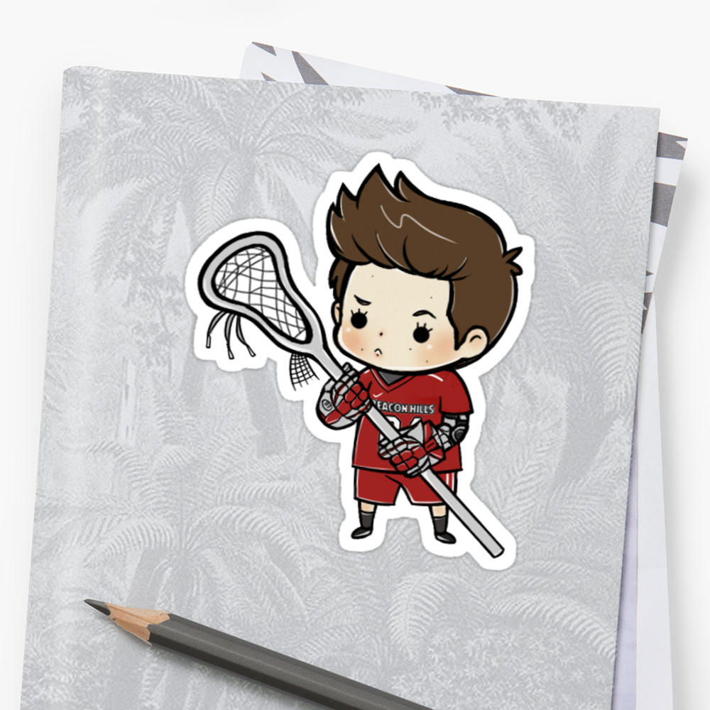 1000x1000 Stiles Stilinski Lacrosse Stickers By Tobyness Redbubble