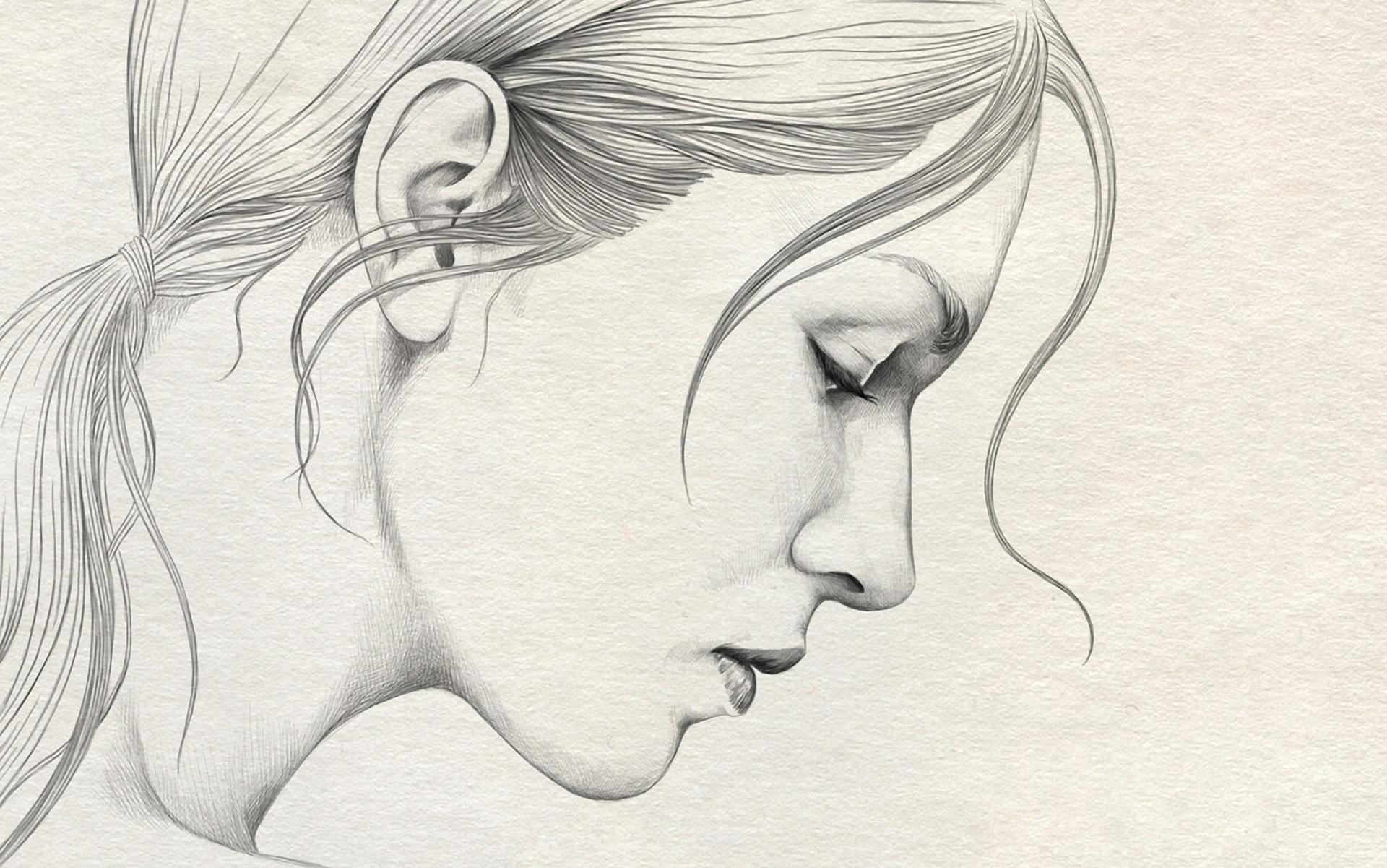 1920x1201 Girl Simple Pencil Sketch Simple Pencil Drawings Of Ladies