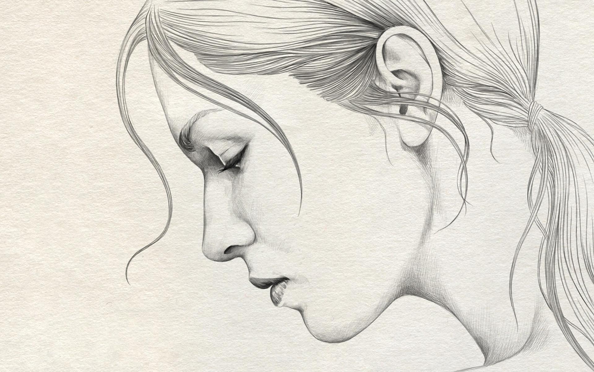 1920x1201 Simple Pencil Sketches Of Girls Simple Pencil Drawings Of Ladies