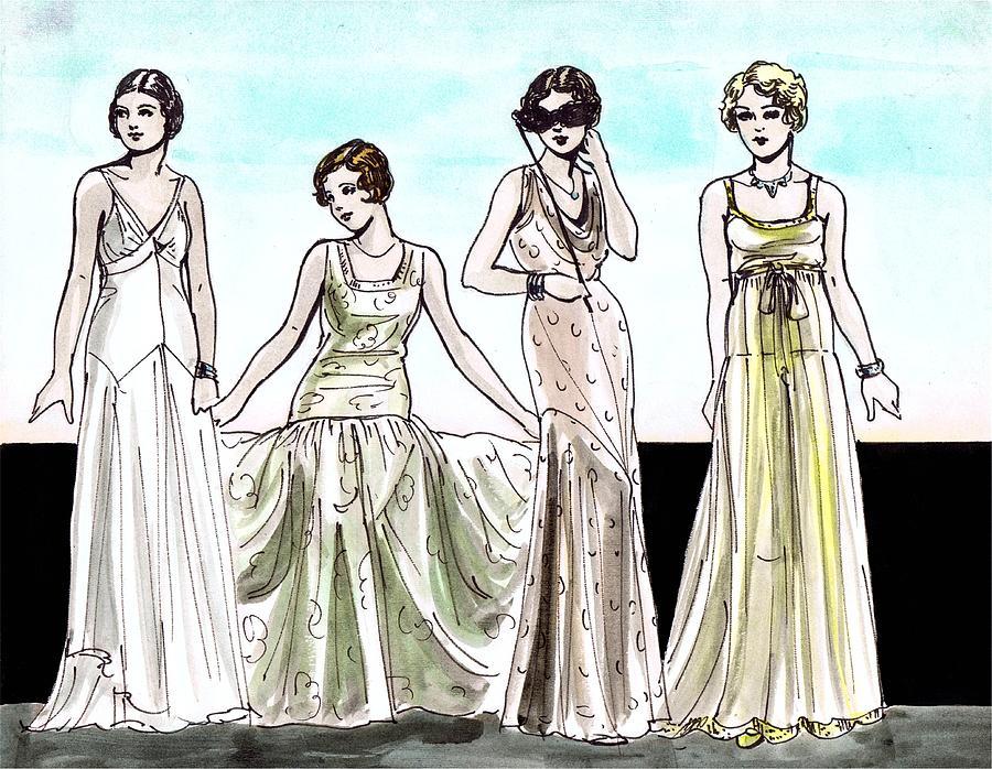 900x698 Vogue Ladies Drawing By Mel Thompson