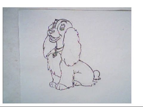 480x360 How To Draw Lady From Lady And The Tramp Movie (Drawing Tutorial