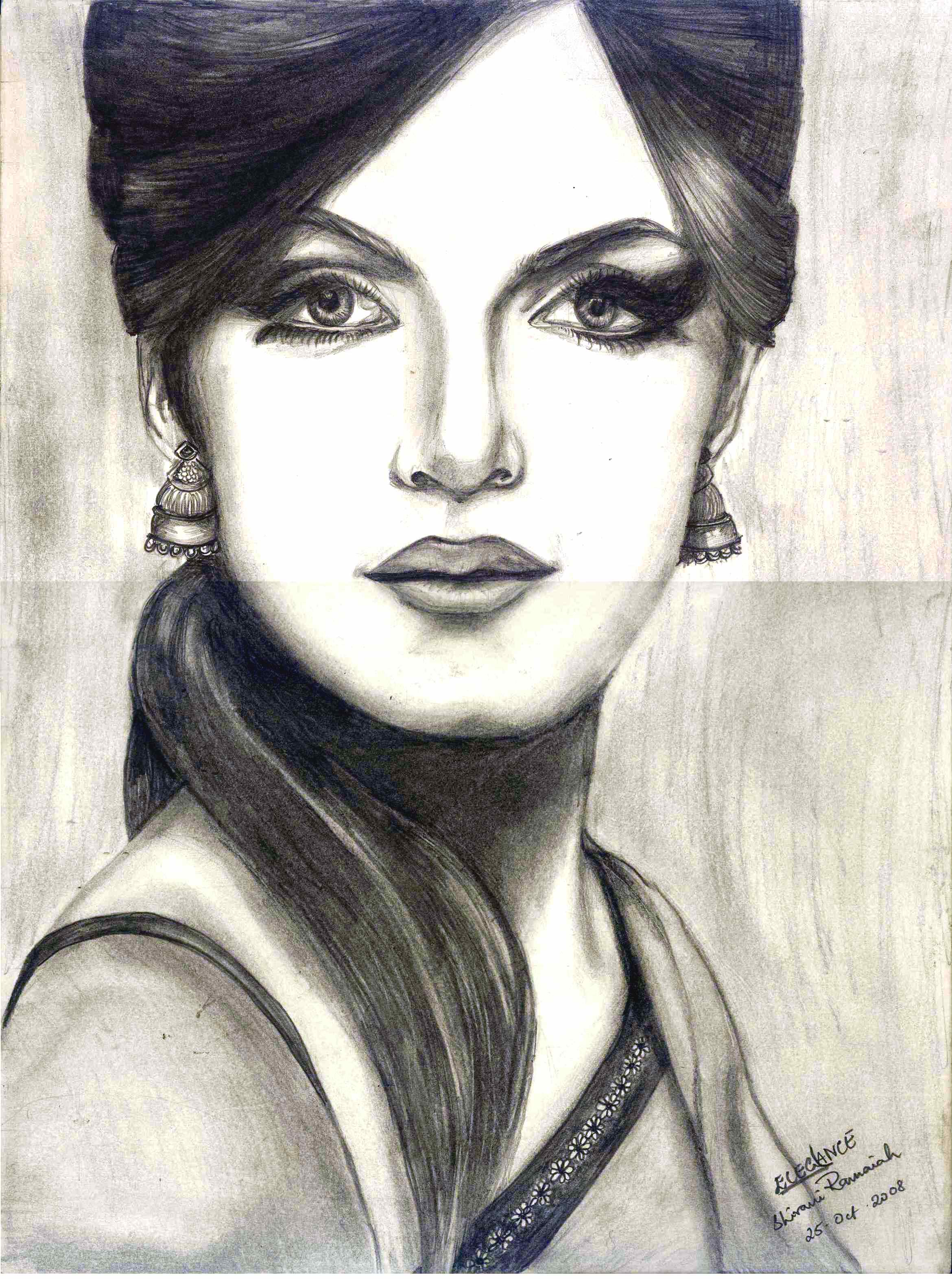 2340x3144 Indian Lady Face Sketch Girl Face Drawing In Pencil Pencil Sketch