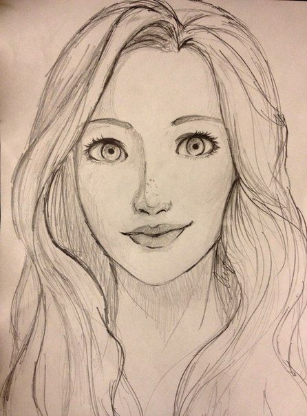 446x604 Pictures Face Sketching Pic Of Girl,