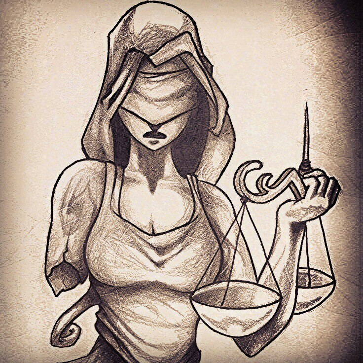 736x736 Lady Justice Draw Lady Justice