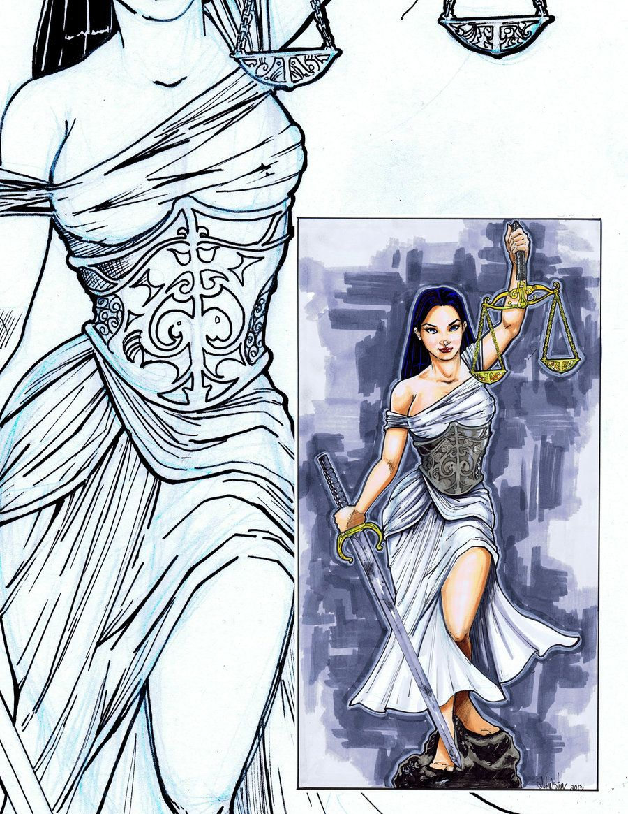 900x1165 Lady Justice By On @