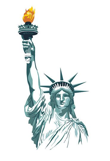 370x540 Statue Of Liberty Print Brothers Pannell Art Work
