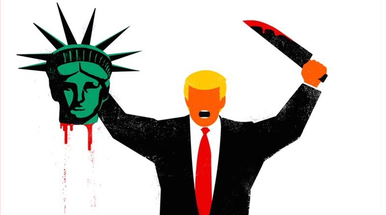 1280x713 This Artist's Drawing Of Trump Beheading Lady Liberty Sparked