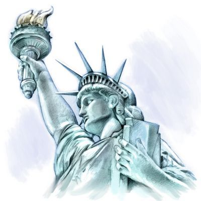 400x400 Statue Of Liberty Drawing