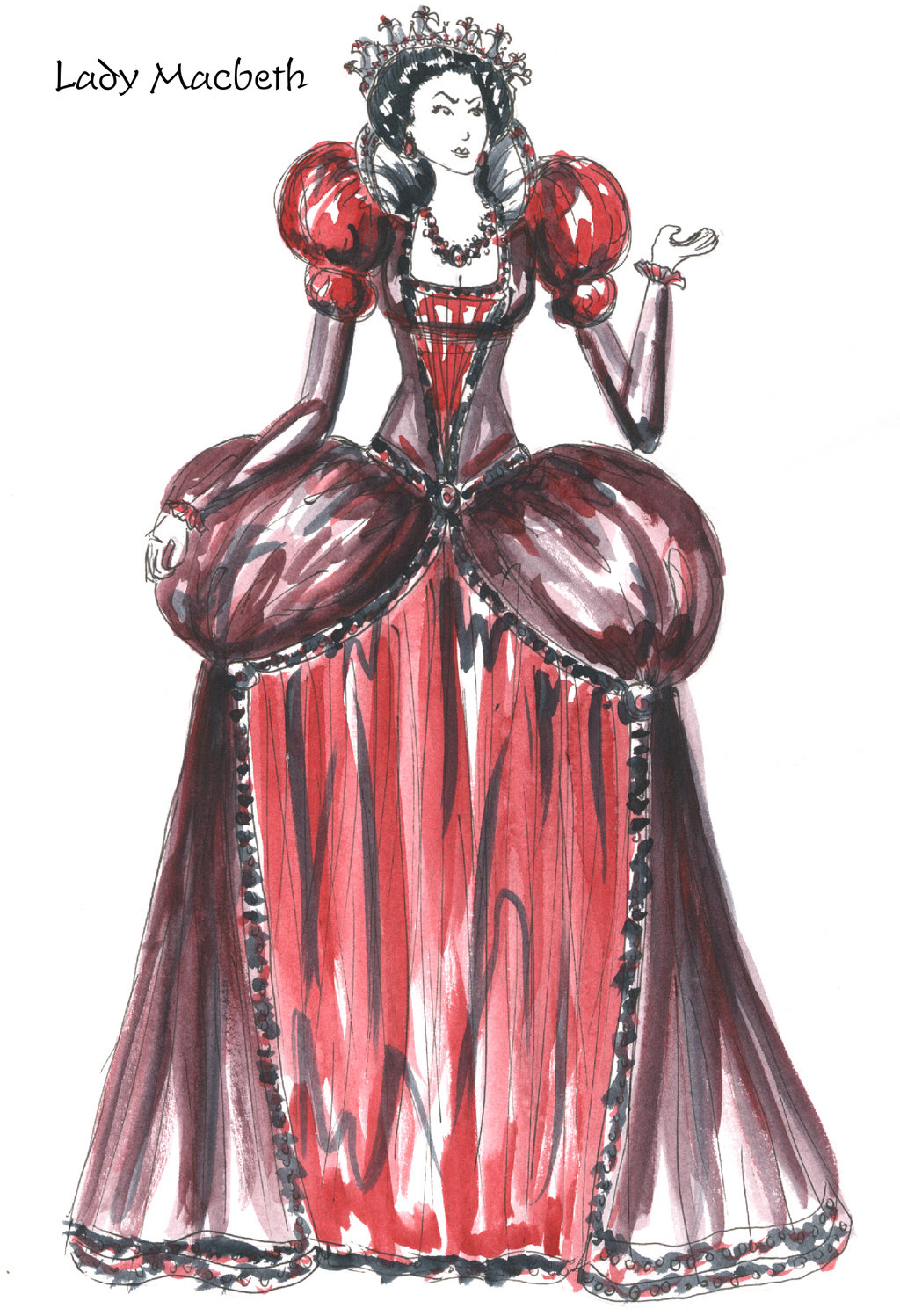1024x1497 Lady Macbeth's First Costume. She Wears Lighter Colors In