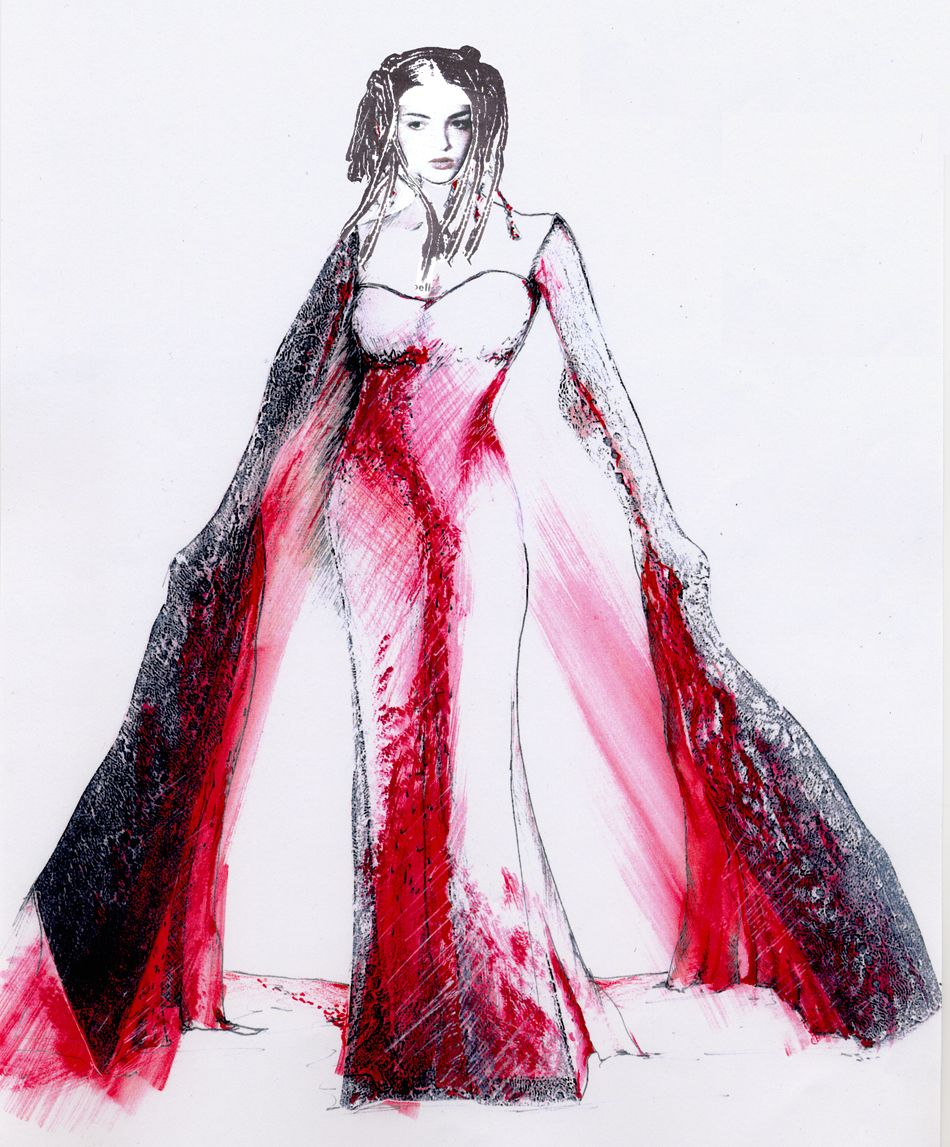 950x1147 Lady Macbeth Opera Costume Costume Renderings Lady