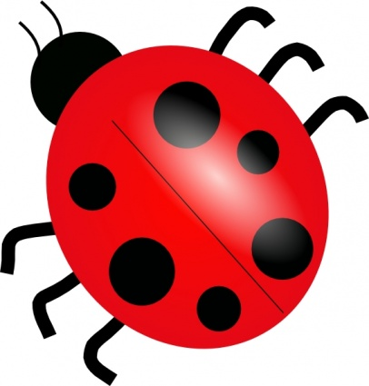 406x425 Animals Red Drawing Lady Cartoon Bugs Ladybug Bug Free Cute Insect